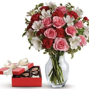 Forever Yours flowers chocolate