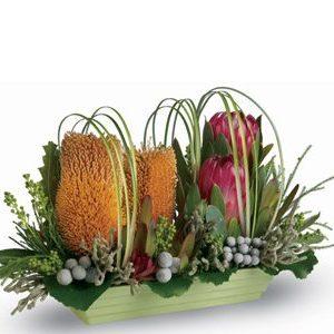Modern native flower arrangement