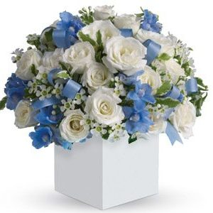 touch-of-blue flowers baby boy