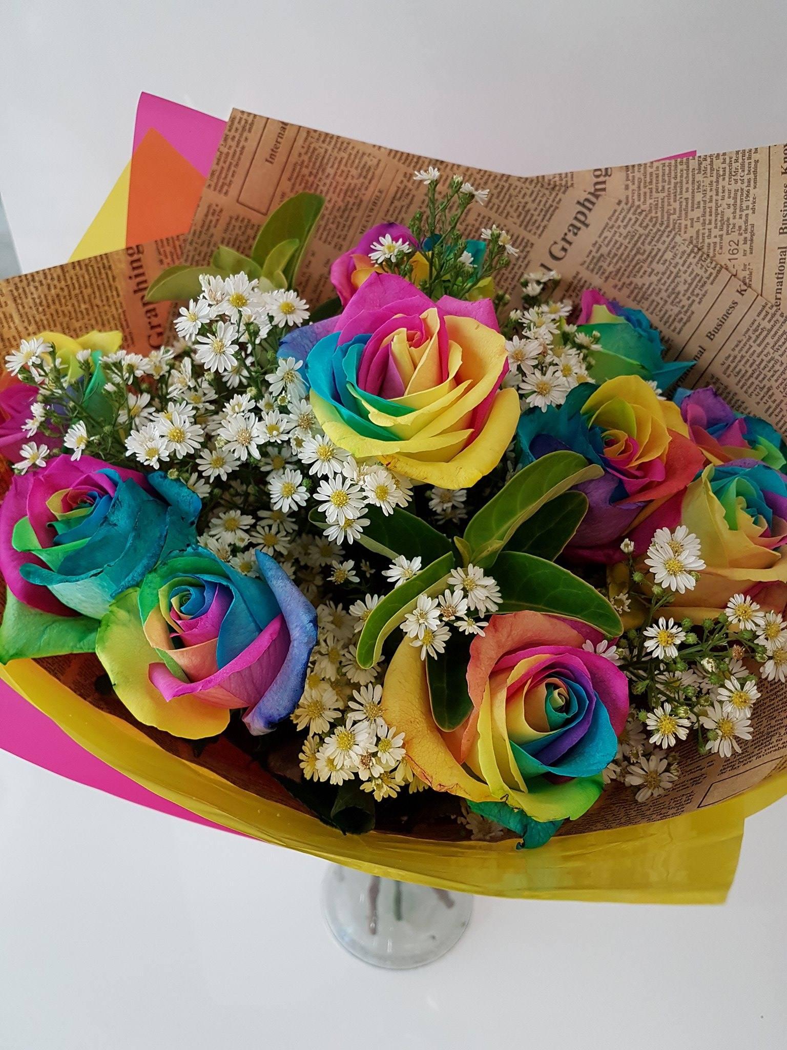 Rainbow Roses Archives | Westridge Florist Toowoomba