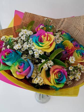 Westridge Florist Toowoomba Flowers Rainbow Rose